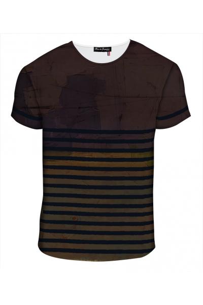 """T-shirt Homme imprimé """"Marinière"""" l Rose de Fontaine"""