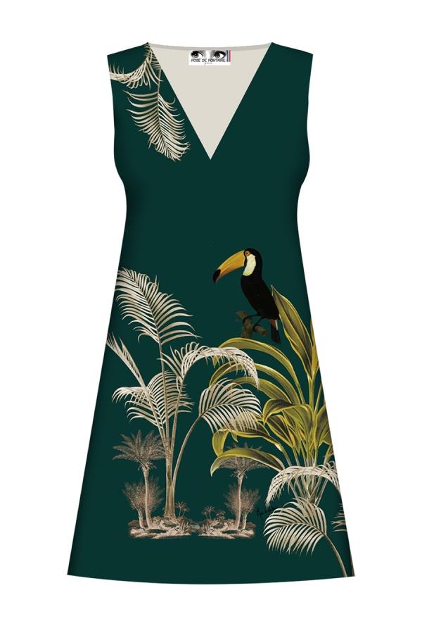 """Robe trapèze Twiggy """"toucan"""" I collection Art déco I Rose de Fontaine"""