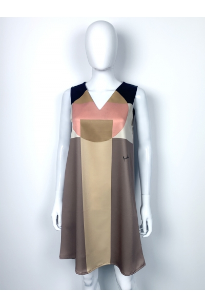 """Robe trapèze Twiggy """"rond carre"""" I collection Abstraction I Rose de Fontaine"""